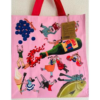 KALDI - 高級スーパー成城石井のエコバック ピンク 1枚