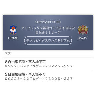 5/30 アルビレックス新潟vsFC琉球 S自由(サッカー)