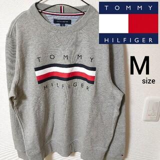 トミーヒルフィガー(TOMMY HILFIGER)の美品 スウェットトレーナー トミーヒルフィガー カットソー メンズ M 即日対応(スウェット)