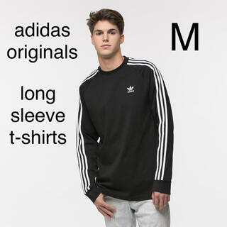 adidas - adidas ロンT ブラック M アディダス オリジナルス 長袖 3本ライン