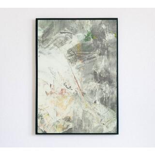 【アートポスター】ニュアンス グレー 油絵 抽象画 選べるサイズ おしゃれ(アート/写真)