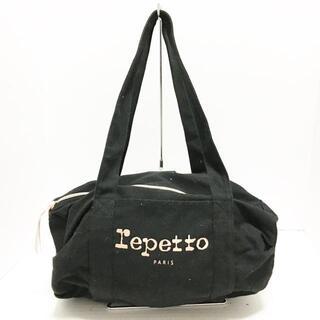レペット(repetto)のrepetto(レペット) 黒 キャンバス(ショルダーバッグ)