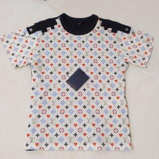 ルイヴィトン(LOUIS VUITTON)のゲームオンコントラストバックTシャツウィズループディテール(Tシャツ(半袖/袖なし))