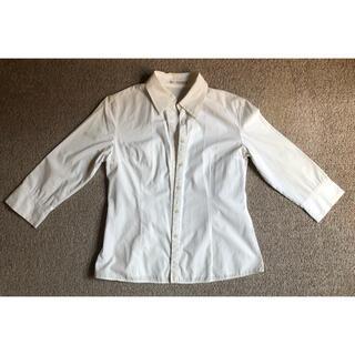 ELLE PLANETE(エルプラネット)レディース 七分袖白シャツ サイズ40