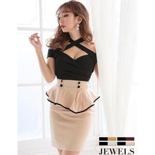 JEWELS - ジュエルズ ペプラムドレス Lサイズ