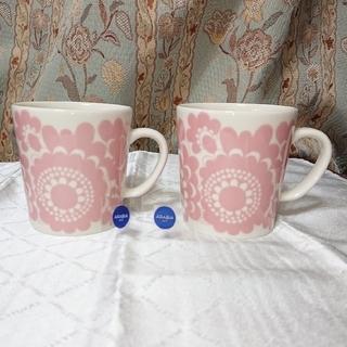 アラビア(ARABIA)のアラビア エステリ ARABIA 1873  マグカップ ピンク 新品未使用(グラス/カップ)