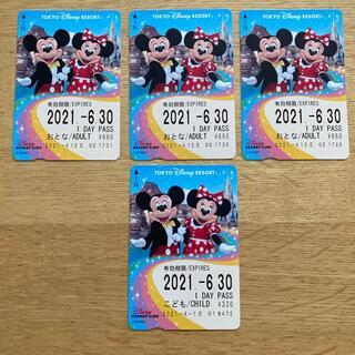 ディズニー(Disney)のリゾートライン 1日券(大人3枚、こども1枚)(鉄道乗車券)