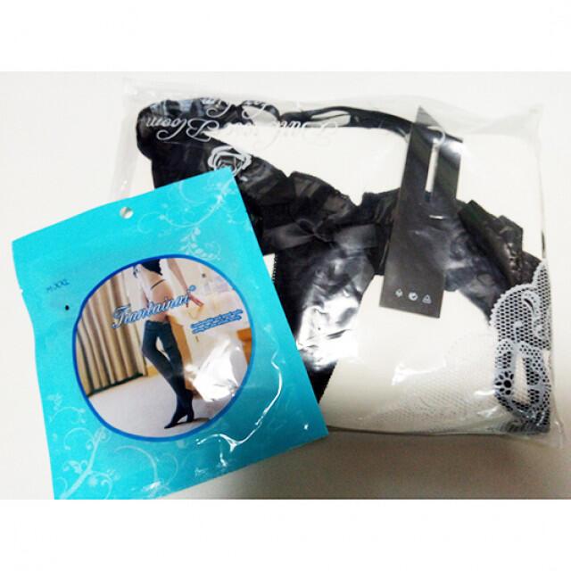 usagi様専用ページ コスプレ6点セット‼ 黒と白 ペチパンツ アームカバー エンタメ/ホビーのコスプレ(コスプレ用インナー)の商品写真