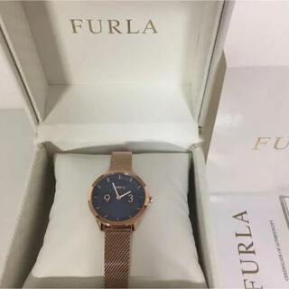 フルラ(Furla)のFURLA メトロポリス 腕時計 ブルー ローズゴールド(腕時計)