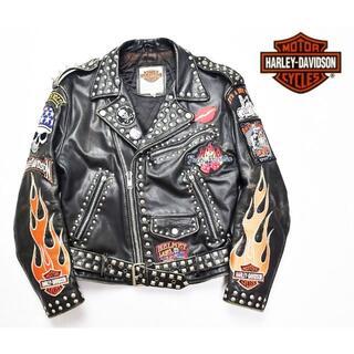 ハーレーダビッドソン(Harley Davidson)のハーレーダビッドソン スタッズ・ワッペン カスタム ダブルライダース(ライダースジャケット)