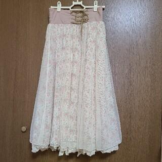オリーブデオリーブ(OLIVEdesOLIVE)の花柄ロングスカート(ロングスカート)