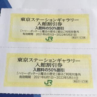 ジェイアール(JR)の【半額】【美術館】東京ステーションギャラリー 半額券2枚(その他)