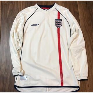 UMBRO - イングランド代表 ユニフォーム 01-02 日韓ワールドカップ 長袖 Lサイズ