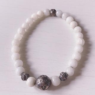 クロムハーツ(Chrome Hearts)のクロムハーツ ブレスレット珠数 ホワイト(ブレスレット/バングル)