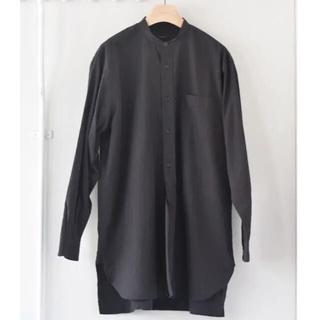 コモリ(COMOLI)の19ss COMOLI コモリ バンドカラー シャツ 2 BLACK (シャツ)