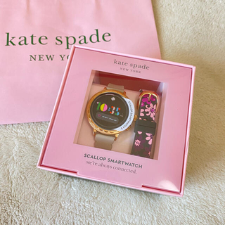 kate spade new york - ケイトスペード スマートウォッチ 時計 ウォッチ 花柄 替えベルトつき