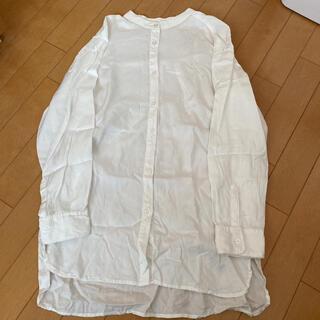 オゾック(OZOC)の新品 オゾック バンドカラーシャツ 白 38(シャツ/ブラウス(長袖/七分))