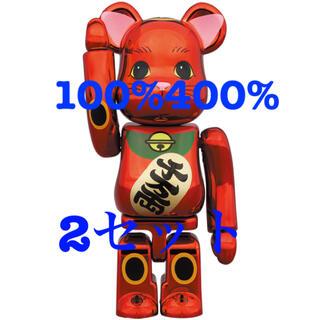 be@rbrick 招き猫 梅金メッキ100% 400% 2セット(その他)