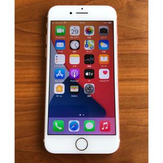 アイフォーン(iPhone)のiPhone7 32GB ローズゴールド SIMフリー バッテリー89%(スマートフォン本体)