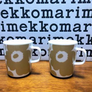 marimekko - 新品 マリメッコ  ウニッコ  ベージュマグカップ 2個セット