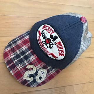 ミッキーマウス(ミッキーマウス)のチロル様専用❣️ミッキー マウス★チェックキャップ帽子54センチディズニー(帽子)