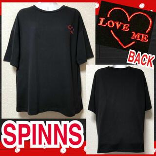 スピンズ(SPINNS)の【SPINNS】ワンポイント刺繍入Tシャツ(Tシャツ(半袖/袖なし))