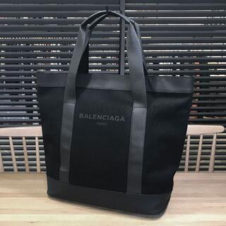 Balenciaga - 美品 バレンシアガ 現行完売品 ネイビートート コットンキャンバス 黒