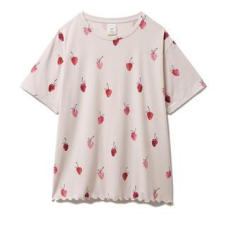 ジェラートピケ(gelato pique)のジェラートピケ ストロベリーモチーフ Tシャツ(ルームウェア)