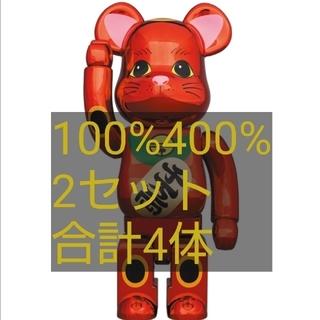 メディコムトイ(MEDICOM TOY)のBE@RBRICK招き猫 梅金メッキ 100% 400%(その他)