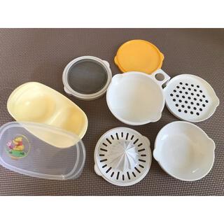 ピジョン(Pigeon)のピジョン 離乳食用 調理器セット、コンビ プーさん離乳食グッズ(離乳食器セット)