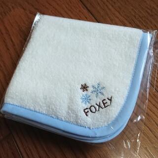 フォクシー(FOXEY)のFOXEY ミニタオル 雪の結晶 ノベルティ(ハンカチ)