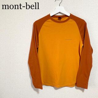 モンベル(mont bell)のモンベル  ラグラン メンズM オレンジ ロンT ワンポイントロゴ (Tシャツ/カットソー(七分/長袖))