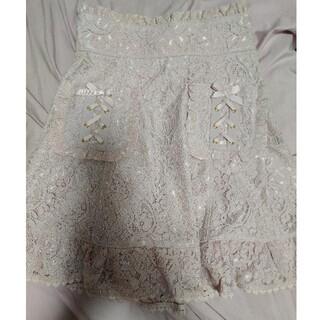 リズリサ(LIZ LISA)のリズリサ レーススカート くすみピンク(ミニスカート)