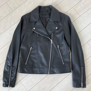ユニクロ(UNIQLO)のUNIQLO ライダース Sサイズ 黒(ライダースジャケット)