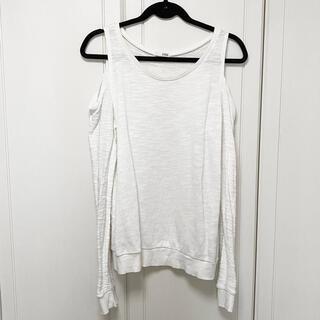 ジェイダ(GYDA)のGYDA ショルダーカット トレーナー オフショルダー オフホワイト(Tシャツ(長袖/七分))