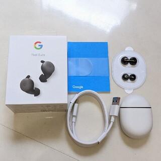 グーグルピクセル(Google Pixel)の美品 Google Pixel Buds ブラック 黒(ヘッドフォン/イヤフォン)