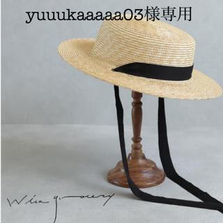 ネストローブ(nest Robe)のwicagrocery  麦わら帽子(麦わら帽子/ストローハット)