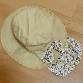 エスティークローゼット(s.t.closet)の46〜48 花柄 リボン 日除け付き 帽子(帽子)