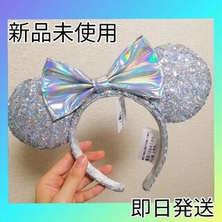 ディズニー(Disney)の新品 アナ雪 シルバー 海外 ディズニー カチューシャ スパンコールカチューシャ(カチューシャ)