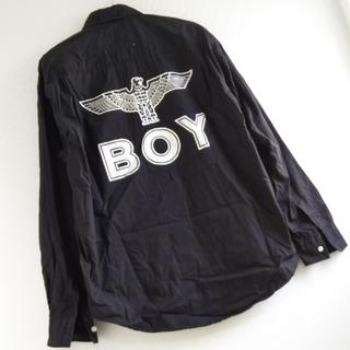 ボーイロンドン(Boy London)の◆B4 入手困難 レア 当時物 ビンテージ 80s 90s BOY シャツ 黒(シャツ)