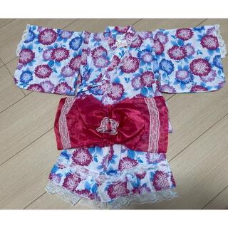 シマムラ(しまむら)の◎新品★90 浴衣ドレス アジサイ 紫(甚平/浴衣)