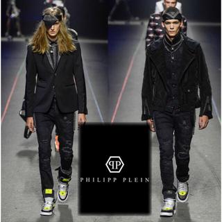 サンローラン(Saint Laurent)の定価13万 希少 美品 philipp plein slim fit pants(デニム/ジーンズ)