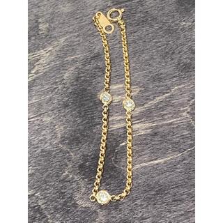 ポンテヴェキオ(PonteVecchio)のK18 YG ダイヤモンド3P ブレスレット 0.38ct 田中貴金属(ブレスレット/バングル)