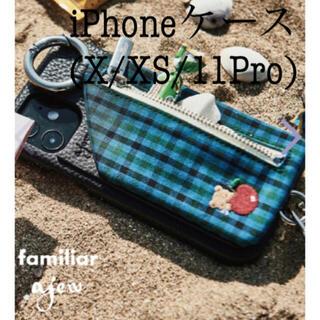 ファミリア(familiar)の美品 familiar×ajew ファミリア エジュー iPhone ケース(iPhoneケース)