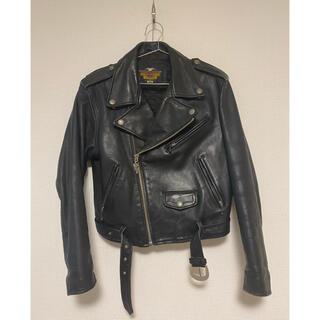 ハーレーダビッドソン(Harley Davidson)のハーレーダビッドソン ライダース ジャケット レザー 黒 ブラック(ライダースジャケット)