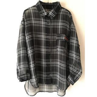 レピピアルマリオ(repipi armario)のレピピアルマリオ シアーチェックシャツ サイズS  150-160(ブラウス)