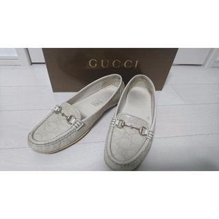 グッチ(Gucci)のGUCCI☆白ローファ(ローファー/革靴)