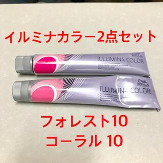 WELLA - イルミナカラー ヘアカラー 1剤 ウエラ 染毛剤 フォレスト10 コーラル10