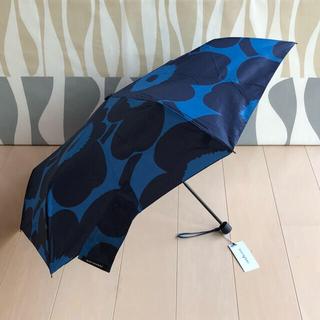 マリメッコ(marimekko)の新品 マリメッコ 折りたたみ傘 ピエニ ウニッコ ブルー×ダークブルー(傘)