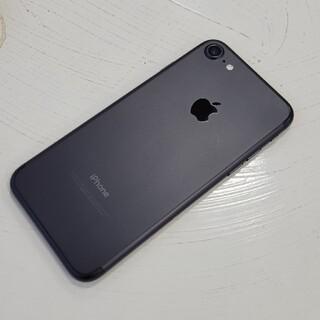 アイフォーン(iPhone)のsimフリー iPhone7 32GB ブラック 中古 バッテリー良好(スマートフォン本体)